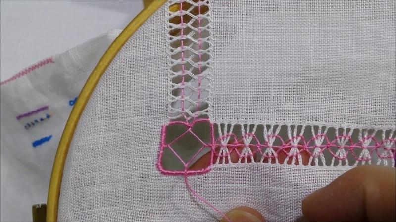 Angolo a punto spirito Tutorial ricamo a mano hand embroidery deshilado