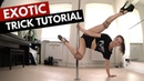 TUTORIAL: Intermediate Exotic Poledance TRICK - Spin Backward Pike Knee Hook
