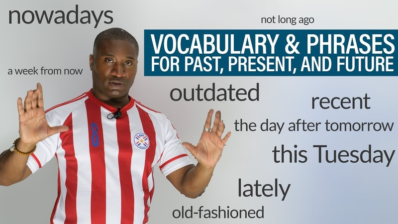 TIME Vocabulary Phrases in English: recently, outdated, of late, nowadays...