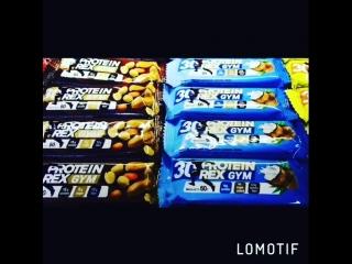 Вкусные батончики от protein rex