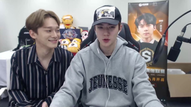 180919 2018 SM Super Celeb League (PUBG) - Sehun with Chen Cam