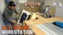 Rotate To Store Flip Top Thickness Planer Installed To All In One Woodworking Bench P6