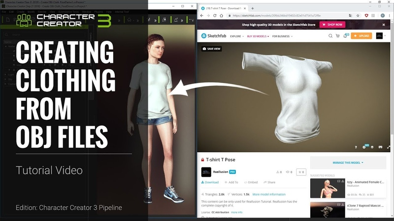 Character Creator 3 Tutorial - Creating Clothing from OBJ Files