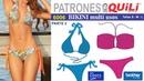 6006 BIKINI PARTE 2 Copas multiusos. Adquiere PATRONES en www.quili.mx