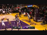 LeBron James throws it down!