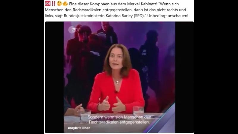 Bundesjustizministerin Katarina Barley (SPD) gibt irre Statements und die Bullen rennen vor den Linken davon