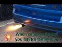 Vauxhall Zafira Spits Flames