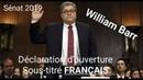 William AG témoigne devant le sénat américains a propos du rapport Mueller.