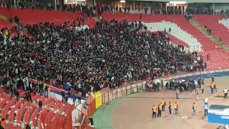 Delije One hour after the game vs Liverpool Pavkov's on fire 🔥🔥 NaNANANA