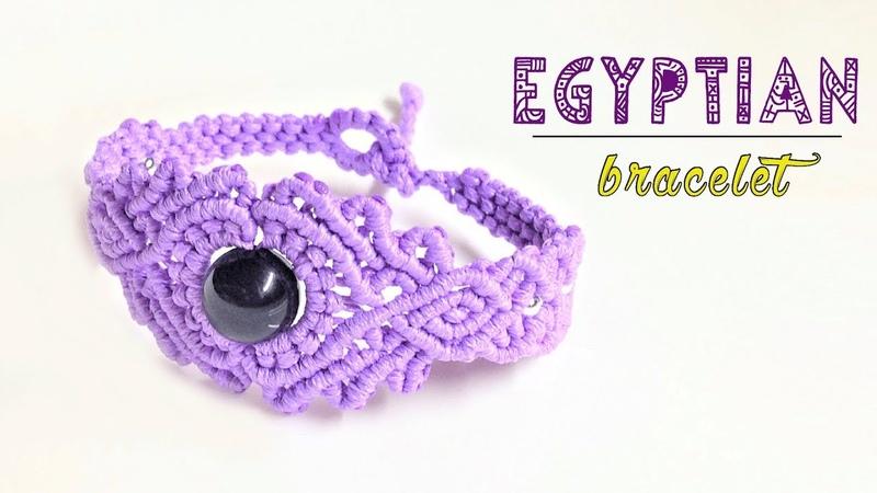 How to macrame: The Egyptian style bracelet - Macrame jewelry set tutorial - Thắt vòng tay
