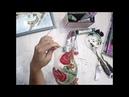 Ирина Букоткина. Роспись вазы гелями с эффектом стекла на вертикальной поверхности