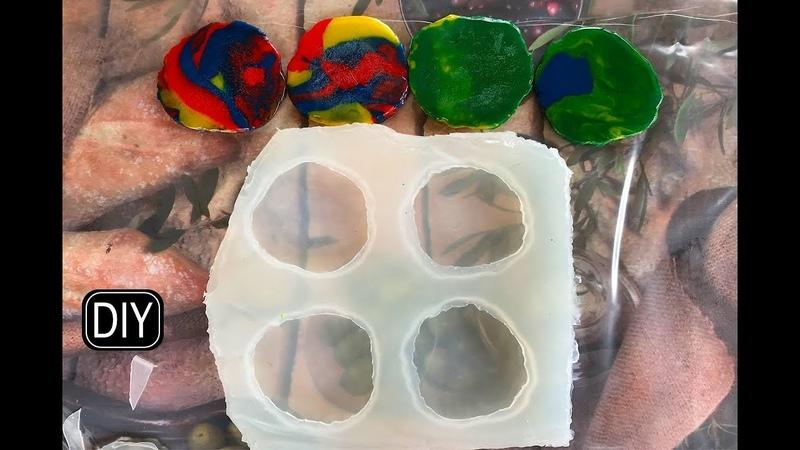 Срезы камня силиконовый молд своими руками. Slices of stone silicone mold with their own hands.