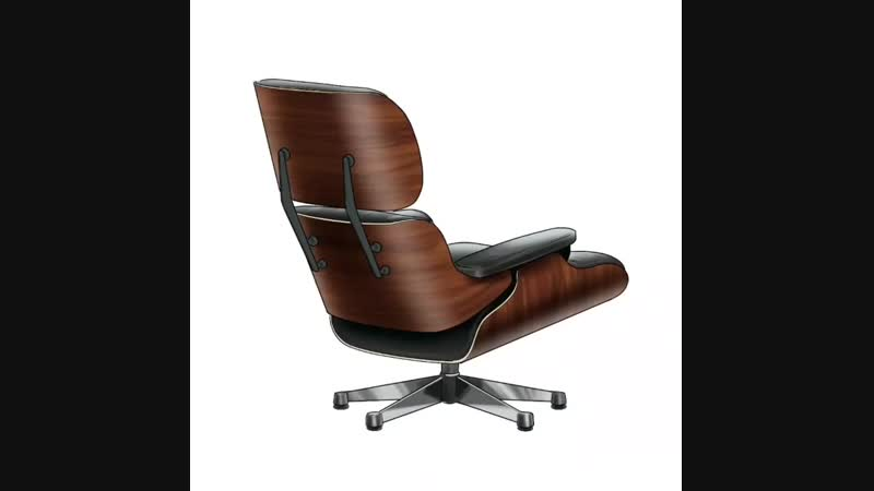Eames lounge chair sketch