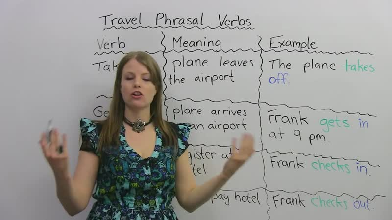 Phrasal Verbs for TRAVEL- drop off, get in, check out...