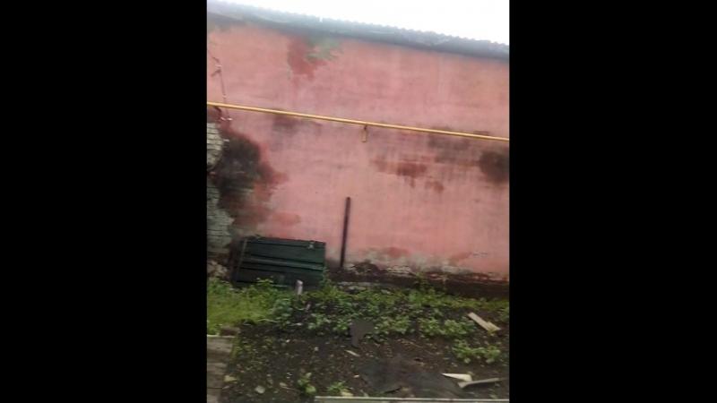 Барнаул. Последствия урагана. Жилой дом.