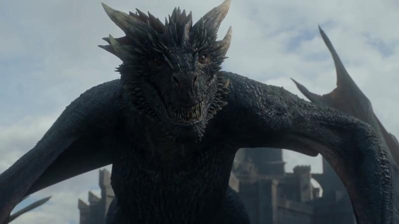 Приручение дракона. Джон Сноу приручает дракона Дрогана. Игра престолов. 7 сезон - 5 серия.