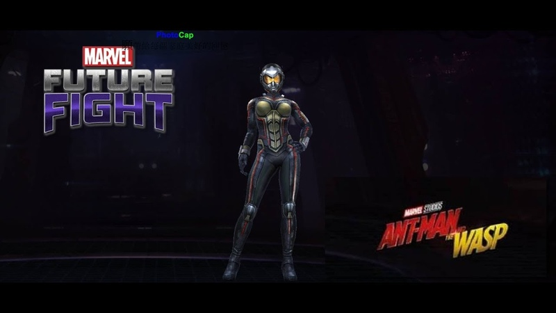 Marvel Future Fight T2 Wasp Review Ant Man And The Wasp Uniform 漫威未來之戰 T2黃蜂女 蟻人與黃蜂女 制服