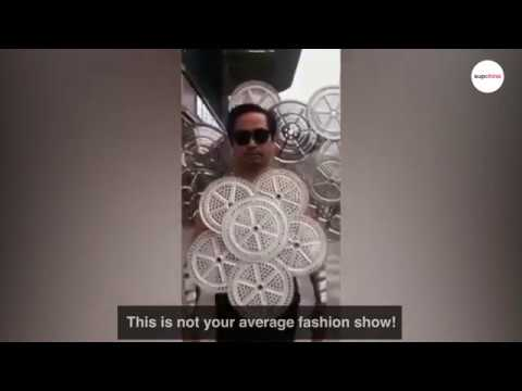 300 outfits made of household objects: Chinese man puts on DIY fashion show