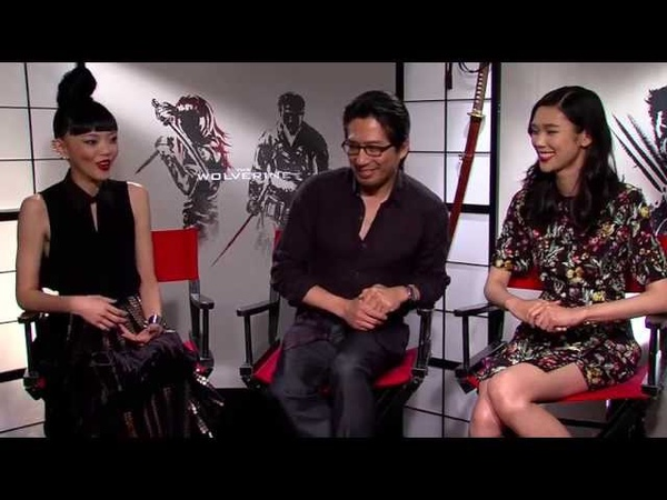HIROYUKI SANADA TAO OKAMOTO AND RILA FUKUSHIMA interview for THE WOLVERINE