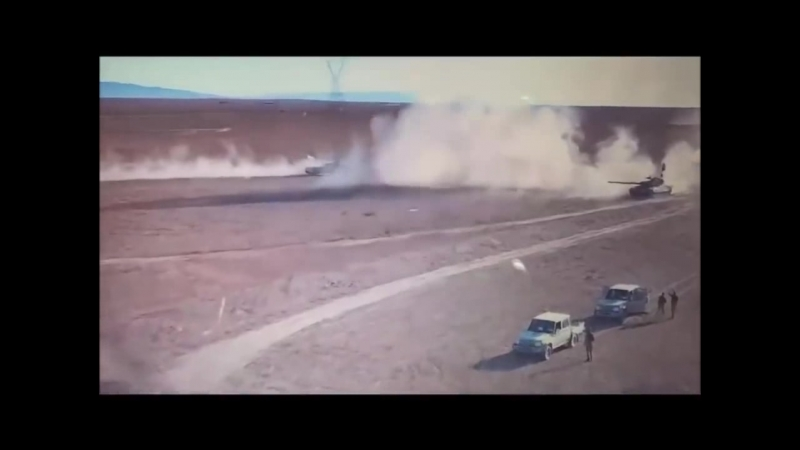 Сирия дрон снял дуэль танка и «джихад мобиля»