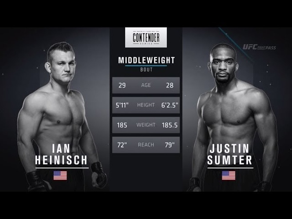 FREE FIGHT Heinisch Throws Huge Elbows on the Ground DWTNCS Week 7 Contract Winner Season 2