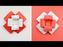 Paper FLOWER BOW TIE Decoration and gift Origami Tutorial DIY NProkuda