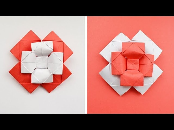 Paper FLOWER - BOW TIE | Decoration and gift | Origami Tutorial DIY (NProkuda)