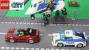 Машинки Лего Мультик про полицейское преследование Новые серии лего сити 2017 Police cars chase