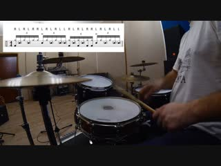 Drum Lesson - Mike Johnston Style Double Paradiddle Drum Beat