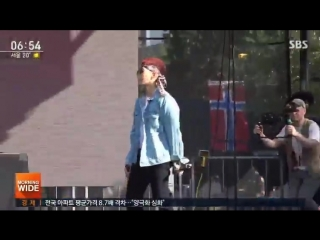 [04.09.2018] SBS Morning Wide new reports about Jay Park performing at Made In America music festival as the first Korean artis