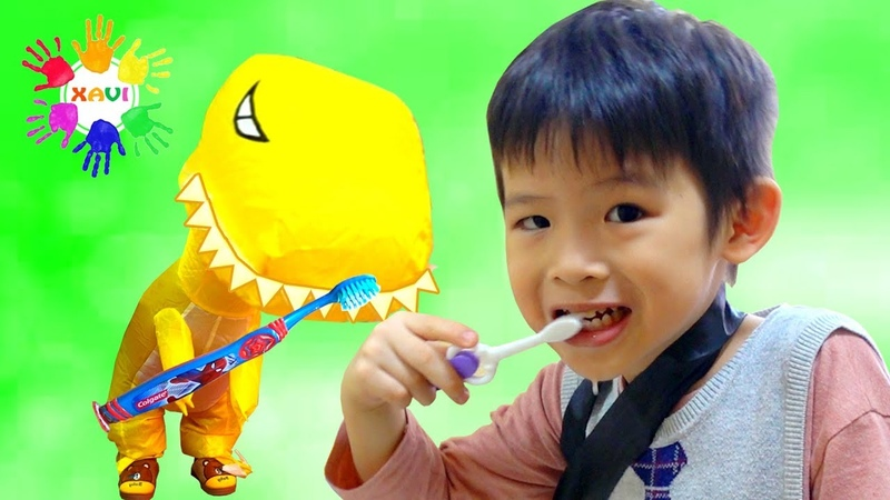 Xavi Pretend Play Brush Your Teeth song Nursery Rhymes for Kids