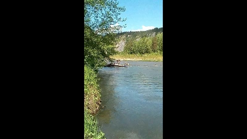 Очистка преграды река белая