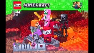 Lego Minecraft Бой в Подземелье Игрушки Обзор Лего Майнкрафт Видео для Детей
