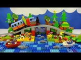 Строим из Lego Duplo, Build and Play toys Lego  - Train Bridge by the river (железнодорожный мост)