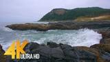 Ocean Waves Crashing on Rocks - Slow Motion Waves 4K HDR Video - Captain Cook Trail, Oregon Coast