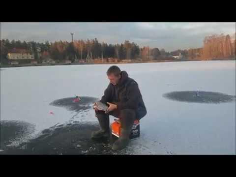 Первая поимка леща по первому льду