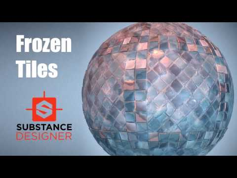 Substance Designer 4 Stylized Frozen tiles Game texture