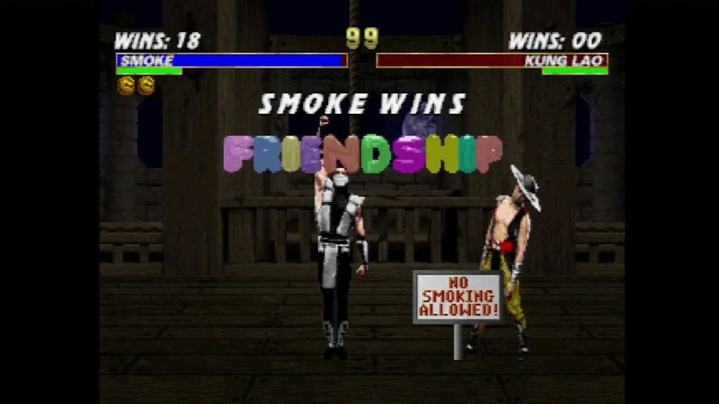 Mortal Kombat Trilogy - All HUMAN SMOKE Fatalities