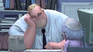 Мистер Исключительный на работе в страховой компании. Суперсемейка (2004) год.