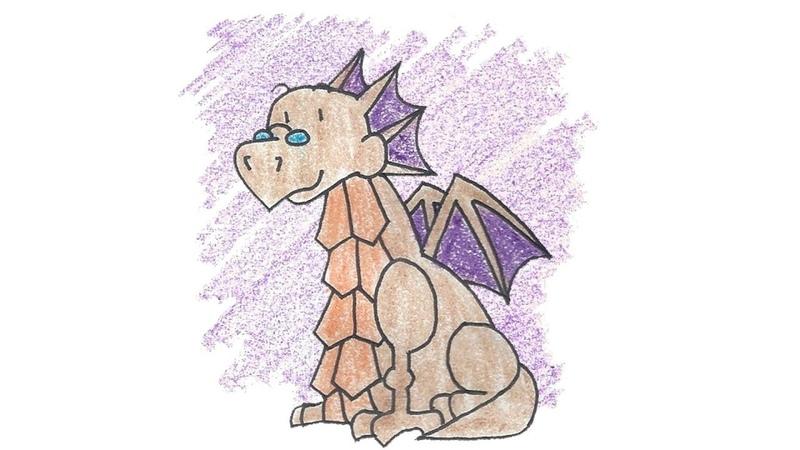 Dragon: A game about a dragon (помогаю дракону в карандашном мире)