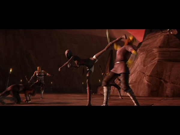 Star Wars Clone Wars Ventress Tests The Strongest Man to be Her Apprentice