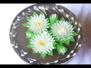 ( https://vk.com/lakomkavk) How to make Gelatin Art flowers - Gelatin art tutorial