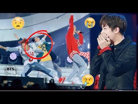 BTS JIN Accident while Performing on Stage (All Scenes)