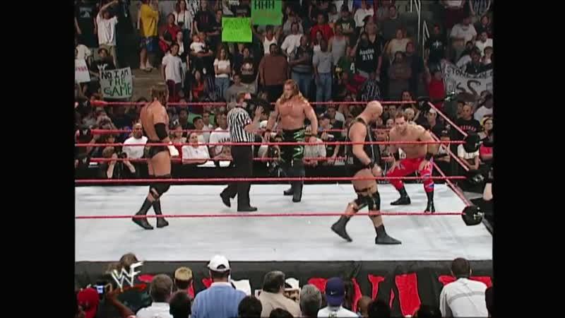 [My1] Бенуа и Джерикто против Остина и Трип Эйча за командные титулы на Raw is War