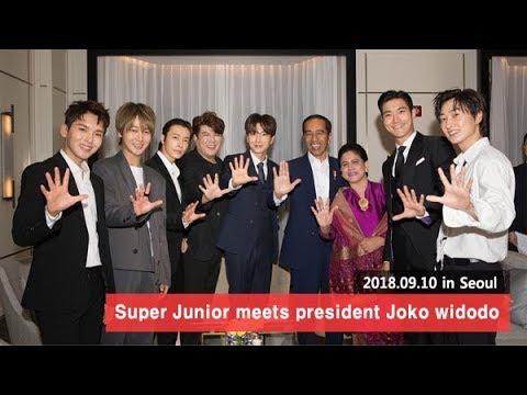 Vedio C Super Junior meets president Joko widodo in Seoul