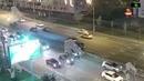 Gelandewagen жестко таранит авто и сваливается на бок на Варшавском шоссе