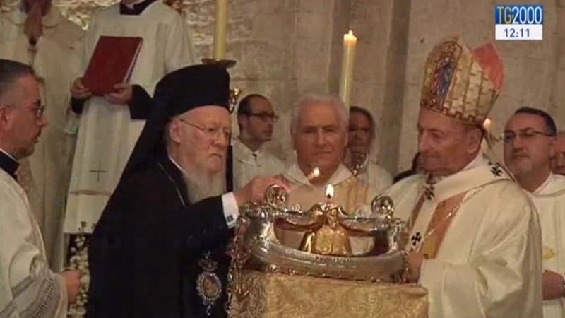 Варфоломей в Бари паписты и экуменисты объединены во имя святого Николая