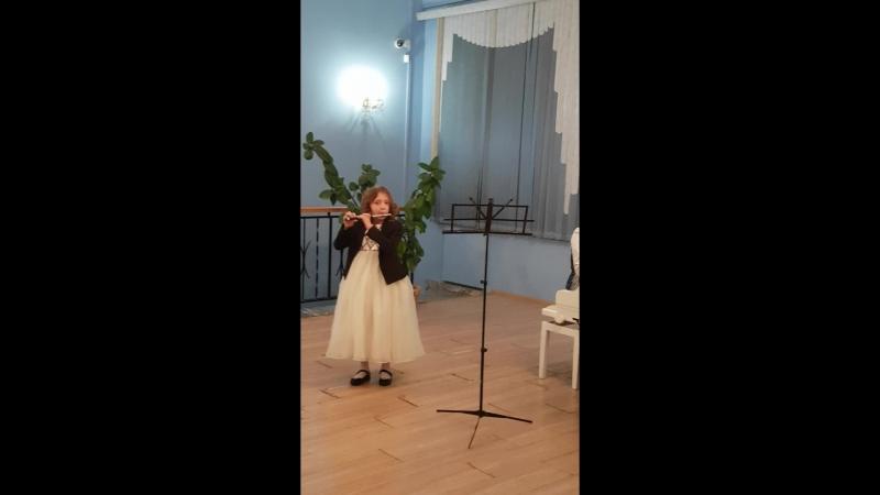 Флейта пикколо.Григ Танец Анитры