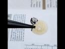Серьги из белого золота 750 пробы.