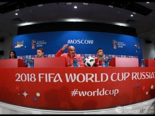 Пресс-конференция российской сборной в Новогорске